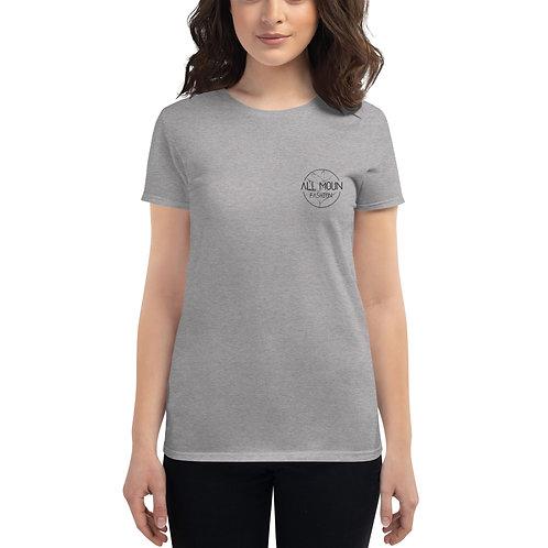 T-shirt gris logo noir