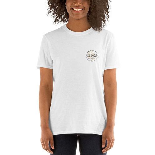 T-shirt blanc logo orange