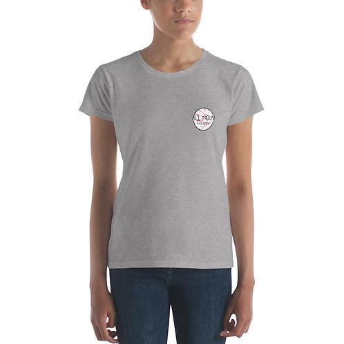T-shirt gris logo rose