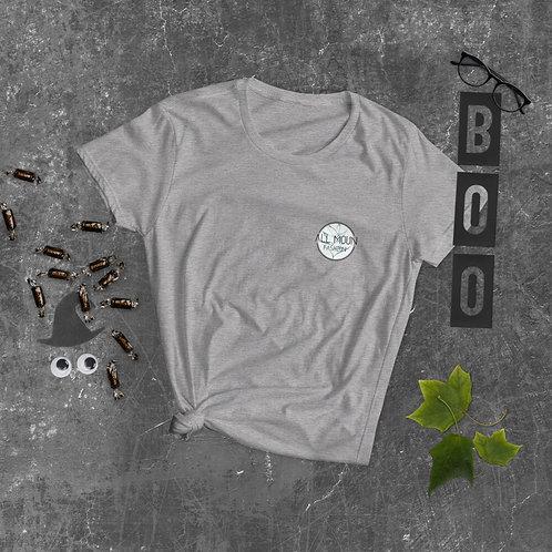 T-shirt gris logo bleu/vert