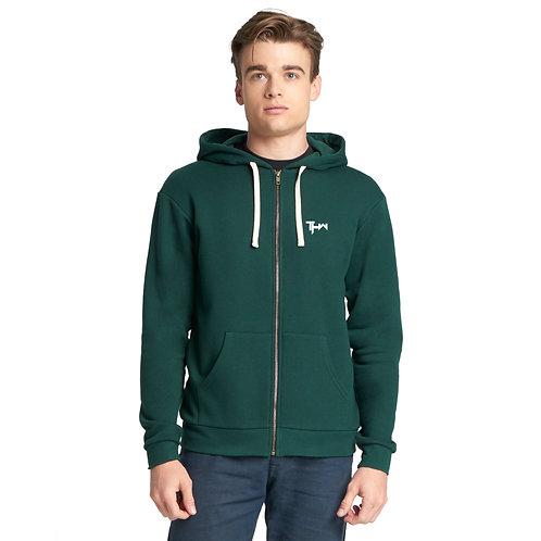 THW Forest Green Full-Zip Hooded Sweatshirt