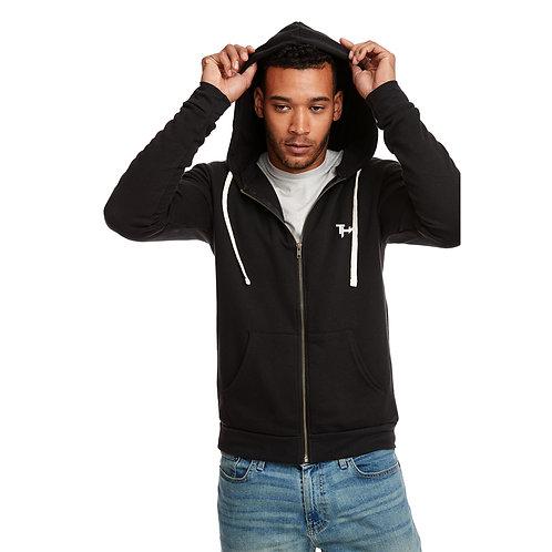 THW Black Full-Zip Hooded Sweatshirt