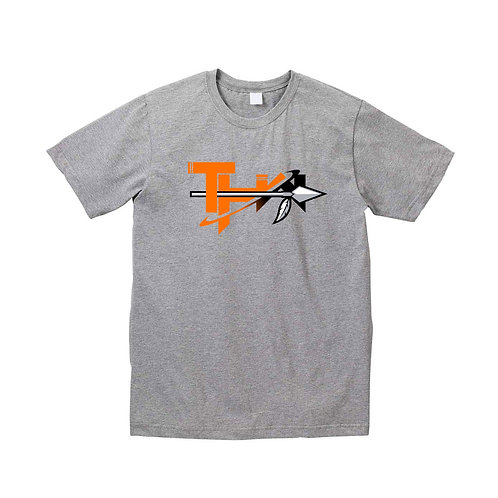 THW Solar Orange Warrior Classic Tee (Heather Gray)