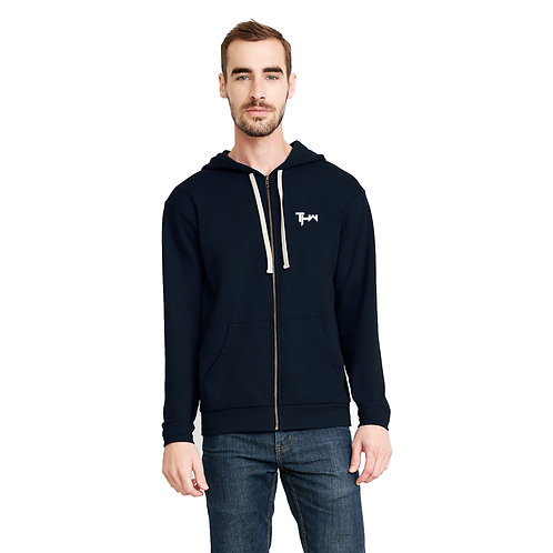 THW Midnight Navy Full-Zip Hooded Sweatshirt