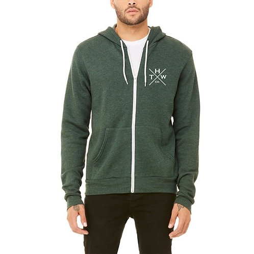 THW Forest Green X Hoodie