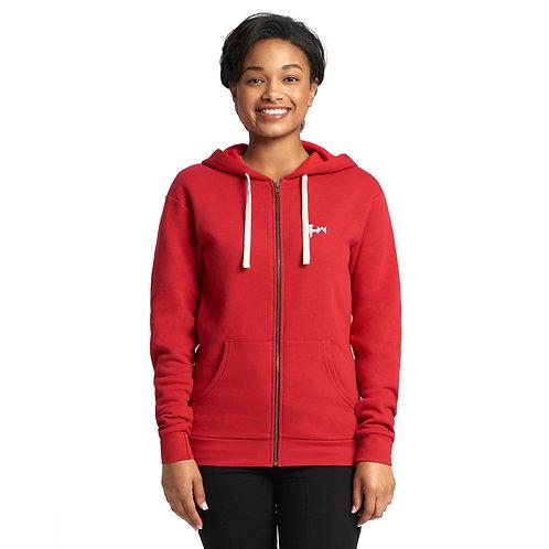 THW Red Full-Zip Hooded Sweatshirt