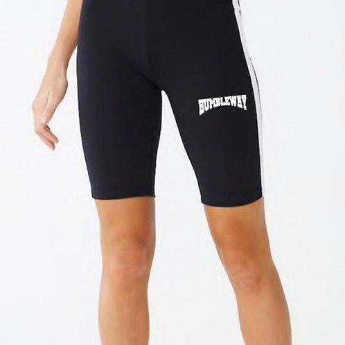 THW Ladies Striped Biker Shorts