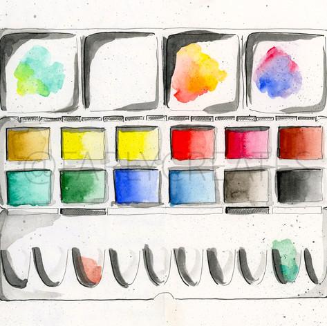 Artist's Paint Palette