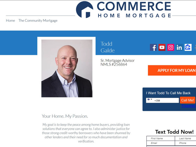 King of Home Loans Website