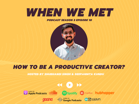 How to be a productive creator? ft Pawan Rochwani