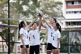 Volleyballers at Basketball court_2016.j