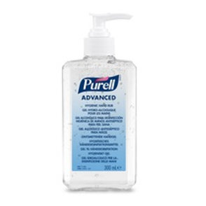 Purell Alcohol Based Hand Rub Gel Sanitiser Pump Bottle 300ml