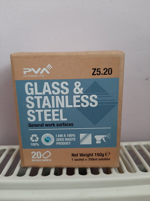 PVA Hygiene Glass & Stainless Steel