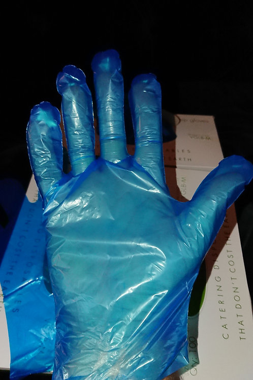 Vegware Compostable Food Preparation Gloves, Blue