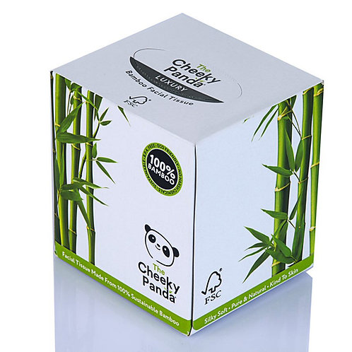 100% Bamboo Cube Box Facial Tissue