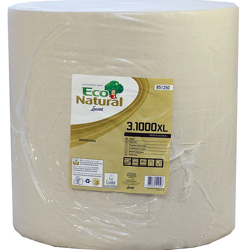 Lucart EcoNatural 1000 sheet 3 Ply Havana Wiping Roll