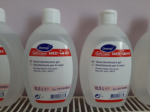 Alcohol Hand Disinfectant - Diversey Soft Care MED H5