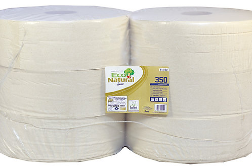 Lucart EcoNatural 2 Ply Recycled Jumbo Toilet Rolls 350m