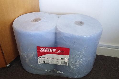 Katrin 464224 Classic Industrial Paper Towel Roll XXL 3 Blue Laminated 38cmx190m