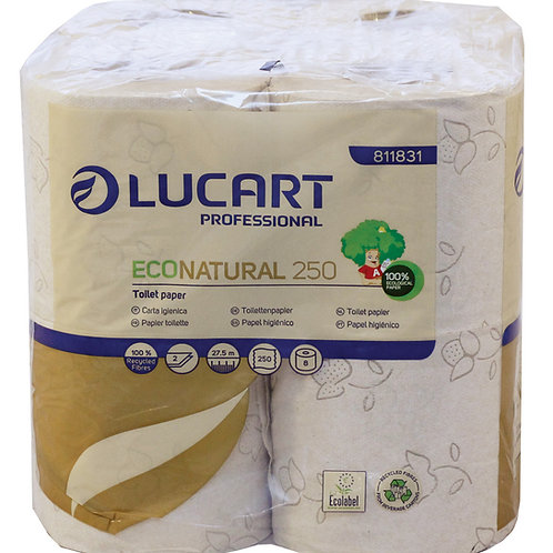 Lucart EcoNatural Toilet Rolls 2 Ply 811831