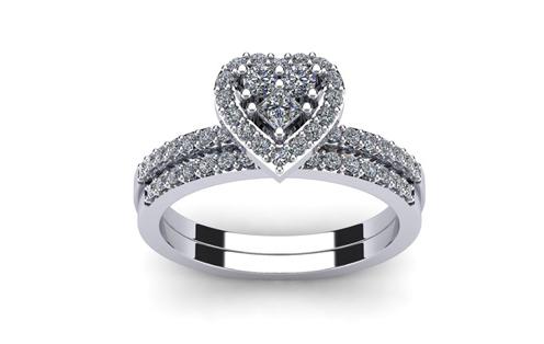 2bb0461fa square shape flower rose design wedding engagement rings for women ...