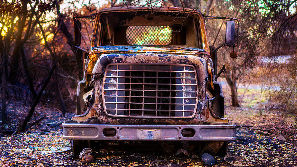 California-Wildfire-Tubbs-burned truck-a
