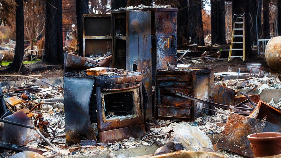 California-Wildfire-Tubbs-burned kitchen
