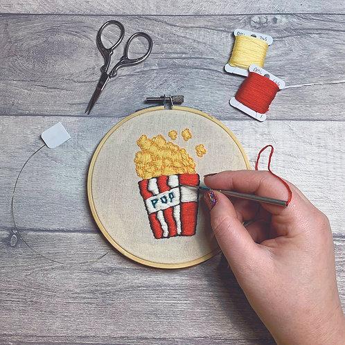Popcorn Punch Needle Embroidery - Full Kit