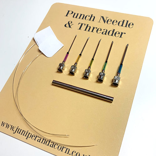 Punch Needle Set With Threaders