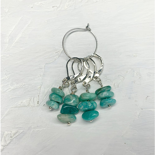 Amazonite Crystal Stitch Markers