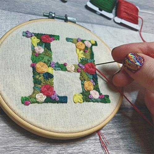 Hand Embroider A Letter - Full Kit