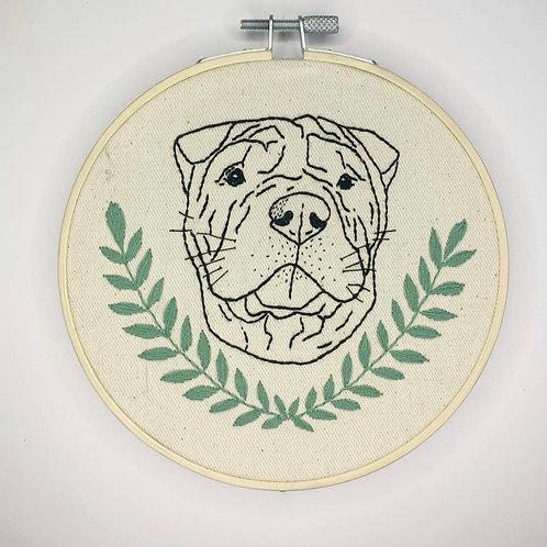 Custom Dog Portrait (Contour)