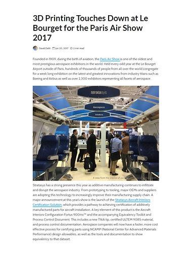 AICS Paris Air Show Announcement - Strat