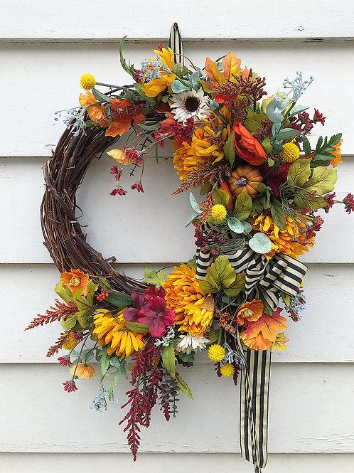 "17""Fall Grapevine Wreath"
