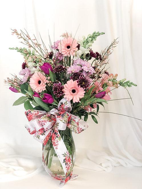 Pink Mixed Vase