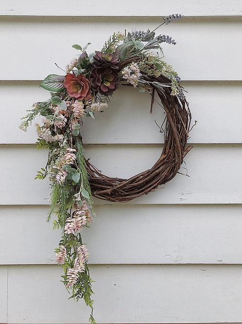 Cascade Grapevine Wreath