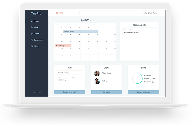 OnePro work management productivity application