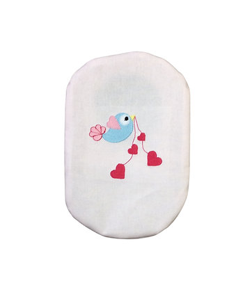 Stoma Bag Pouch Cover, Sweetheart Bird and Hearts, Valentines