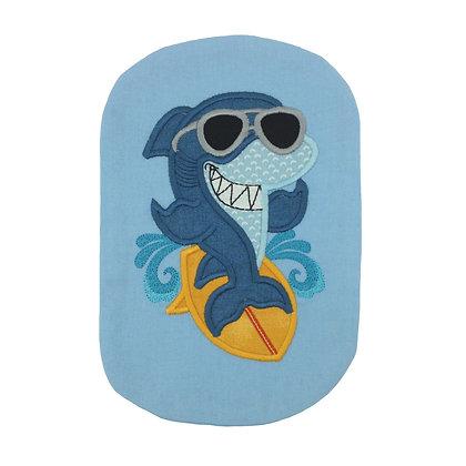 Blue embroidered stoma bag cover Polar Moon