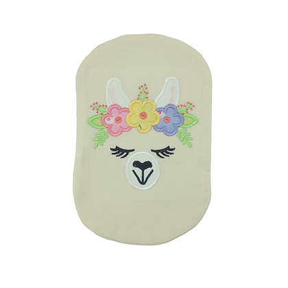 Cream cotton embroidered stoma bag cover Polar Moon