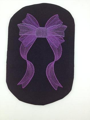 Stoma Bag Cover, Purple Ribbon