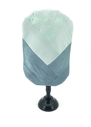 Soft Green Satin and Lace Stoma Bag/Pouch Cover, Elizabeth Rose Ocean