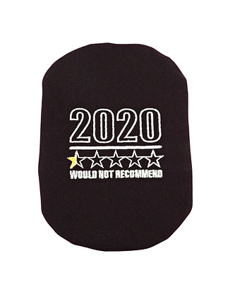 Black stoma bag cover embroidered with 2020 review Polar Moon