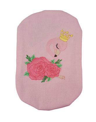 Cotton Stoma bag cover with embroidered flamingo Polar Moon