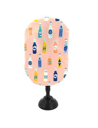 Pink cotton stoma bag cover retro print Polar Moon