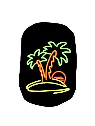 Stoma Bag Cover, Neon Flourescent Desert Island