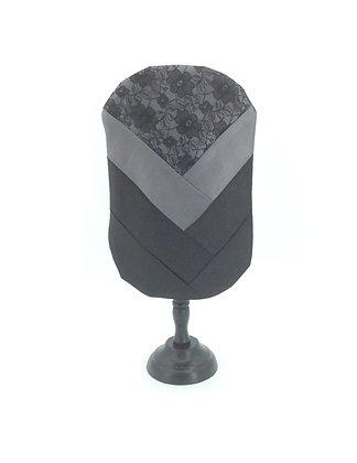 Grey satin and lace stoma bag cover Polar Moon