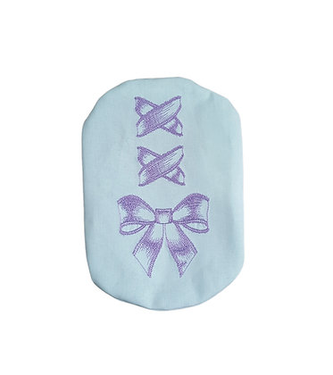 Stoma bag cover with corset ribbon embroidery Polar Moon