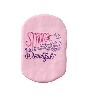 Pink cotton stoma bag cover embroidered Polar Moon