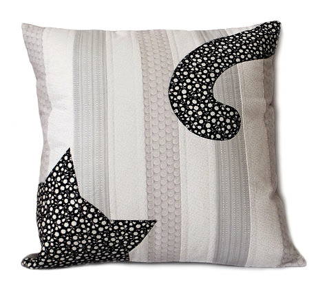 Cat Tails Quilted Cushion Cover